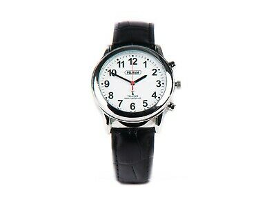 Radio Controlled Talking Watch, with Leather Strap