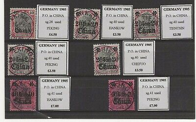 German P.O. in China 7 with nice readable cancels