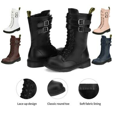 DREAM PAIRS Boys Girls Kids Knee High Winter Boots Toddler Martin Shoes Leather