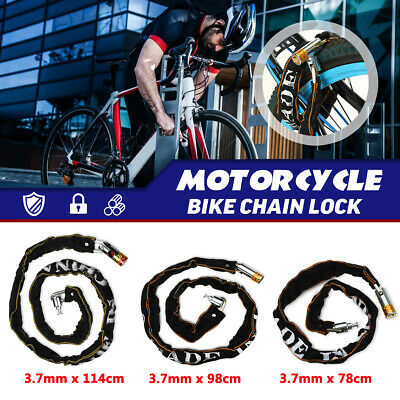 Motorcycle Bicycle Bike Anti Theft Chain Lock Heavy Duty Padlock Security Safe