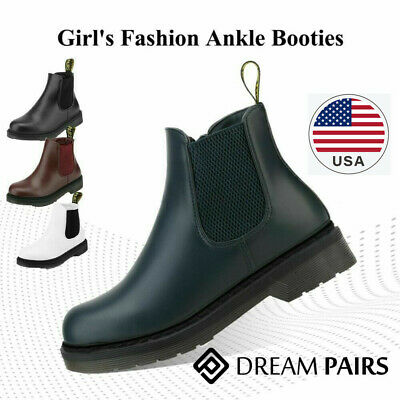 DREAM PAIRS Boys Girls Kids Chelsea Ankle Boots Slip-on Toddler Martin Shoes