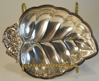 The Sheffield Silver Co Silver Plate Metal Leaf Dish Tray