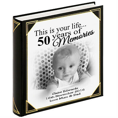 Personalised photo album scrapbook album, 50th birthday christmas present.