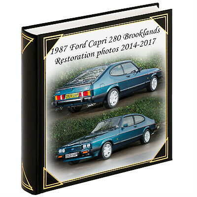 Personalised large photo album scrapbook album car vehicle restoration album