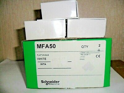 SCHNEIDER ELECTRIC MITA MFA50 50 X 50MM FLAT ANGLE FOR MIDI TRUNKING Pack of 2