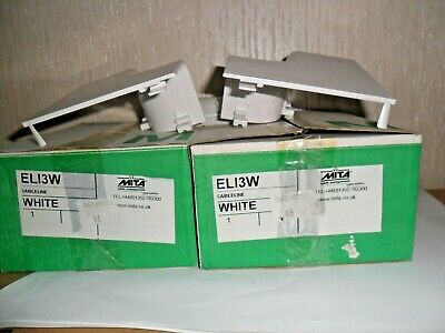 Schneider Electric Mita  -El13W - Cableline Internal Angle For Dado Trunking