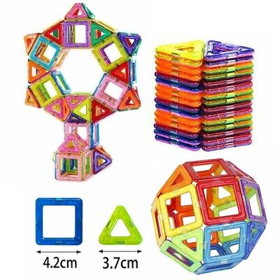 100/50PCS Magnetic Building Blocks of Construction Educational Kids Magic Toys