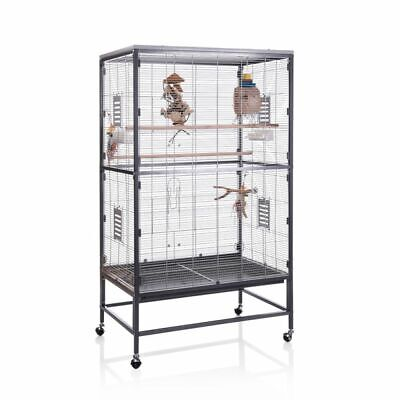 Indoor Aviary Cage With Wheels - 91 x 60 x 160 cm (L x W x H)