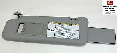 New Oem Toyota Highlander 2008-2013 With Sunroof Gray Drivers Side Sun Visor