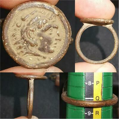 Beautiful Old Alexander king Coin Wonderful Unique Ring   # 36