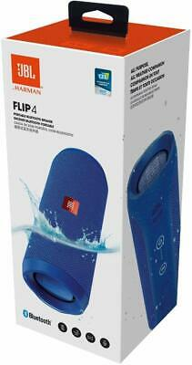 NEW JBL Flip 4 Wireless Bluetooth Stereo Speaker Portable IPX 7 Waterproof Blue