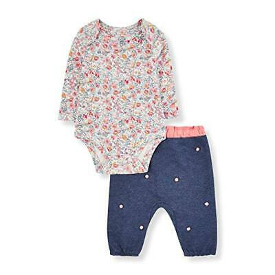 (TG. New Baby (Manufacturer Size:56)) Mothercare NB PF Pom Top And Jog Set Tuta,
