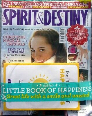 Spirit & Destiny Magazine December 2019 With Little Book Of Happiness ~ New ~