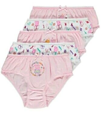 Peppa Pig Girls Knickers Briefs Pants size 2-3 years old pack of 5