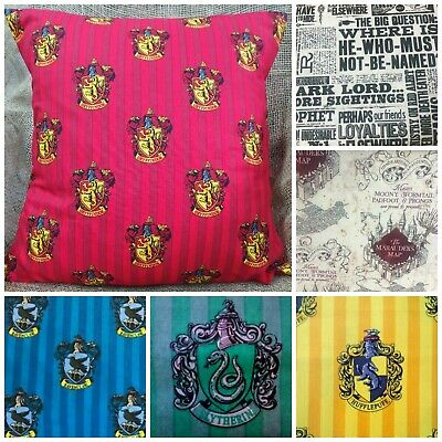 "Harry Potter Hogwarts Cotton Fabric Cushion Cover - 16"" or 18"""