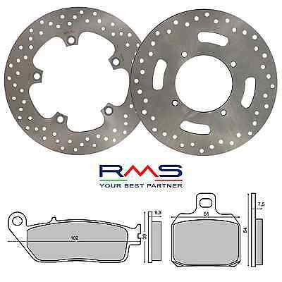 Set Frein Complet Disque Plaquettes RMS Yamaha X-Max 125 2010/2011