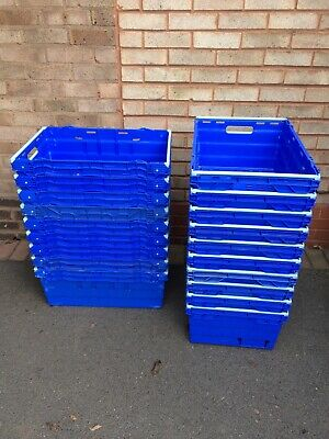 Bale arm storage crates, strong & durable Blue plastic crate, used good con. £3