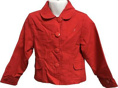 PRE-OWNED Girls Dunnes Red Jacket Age 2-3 Years PJ302