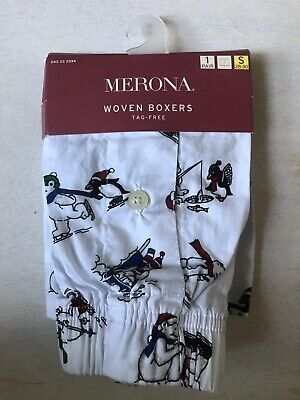 Mossimo Holiday Men's Penguin Polar Bear Boxers Size Small 28-30 NEW
