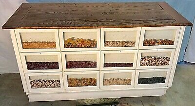 Antique Peerless Seed Counter with 12 display windows and 12 drawers in back