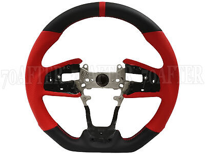 Buddy Club Leather / Red Steering Wheel for 17-19 Honda Civic Type-R FK8