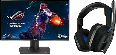 "ASUS ROG PG279Q 27"" Gaming Monitor IPS with NVIDIA G-SYNC and Astro A20 Headset"