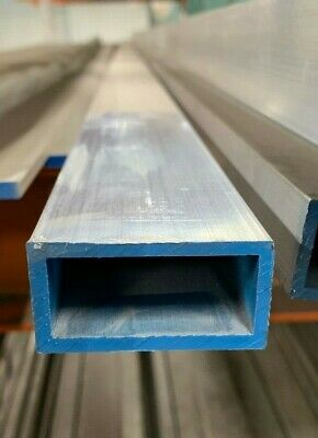 "1"" X 2"" X 1/8"" Wall 6061 T6 Aluminum Rectangular Tube 12"" Piece"