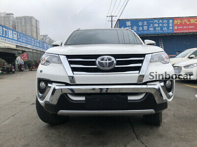 BLACK FRONT BUMPER GUARD FOR NEW TOYOTA FORTUNER 2011-2013 GENUINE PARTS