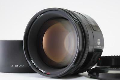 【Excellent 】Minolta AF 85mm F/1.4 For Sony α A Minolta w/ Hood from Japan 1227