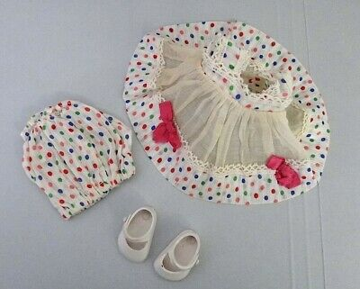 Vogue Ginny Doll OUTFIT ONLY Tagged Polka Dot Dress Pants + White Shoes (1867)
