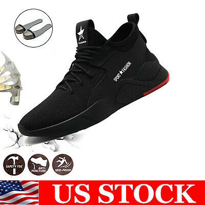 Men's Work Safety Shoes Steel Toe Bulletproof Boots Indestructible Sneakers US
