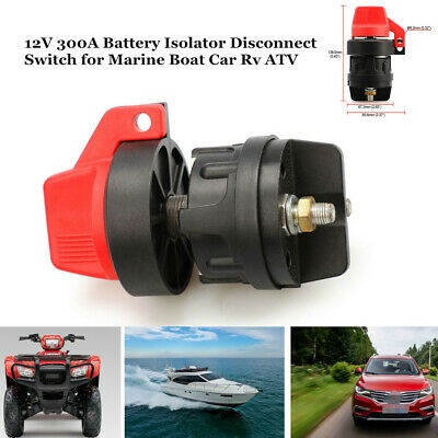 12V 300A Battery Isolator Disconnect Switch ON-OFF for Marine Boat Car Truck RV