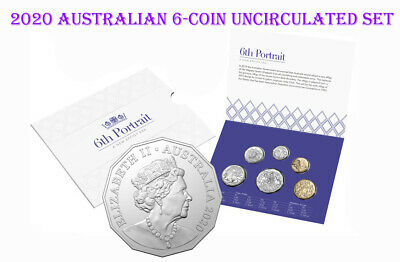 2020 Australia 6-Coin Uncirculated Set RAM 6th Portrait The New Effigy Era