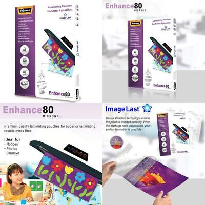 Fellowes A4 Laminating Pouches, Gloss, 160 Micron (2 X 80 Micron) With Image Las