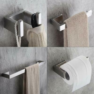 Wall-Mounted Stainless Steel Tower Bar Bathroom Hardware Accessory Set 4PCS