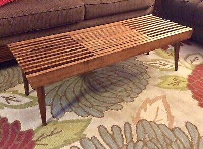 Prime Danish Mid Century Modern Slat Bench Coffee Table Expanding Creativecarmelina Interior Chair Design Creativecarmelinacom