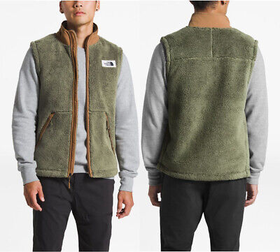 The North Face Mens Campshire Zipped Fleece Vest FOUR LEAF CLOVER / KHAKI Size S