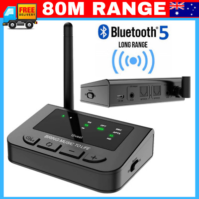 🔊 80M Long Range Bluetooth 5.0 Transmitter Receiver TRANSMITTER Wireless Audio