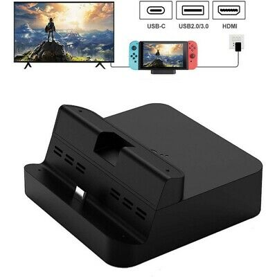 For Nintendo Charging Dock Stand Switch Table Charger Station TV Mode Black UK