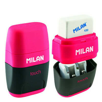 Milan 4706116  Compact Touch Double Hole Sharpener With Eraser