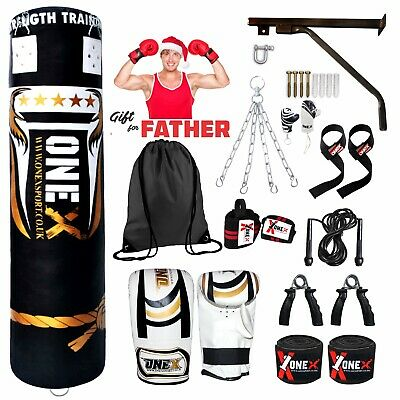 ONEX PUNCH BAG WALL HANGING BRACKET FILLED HEAVY DUTY MARTIAL ARTS MMA UCF