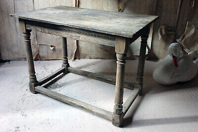 Antique 17thC Dry Oak Charles II Period Side Table c.1680