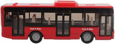"° Blister Pack Siku 1021 Line Bus /"" Park /& Ride /"" Red Model Vehicle New"