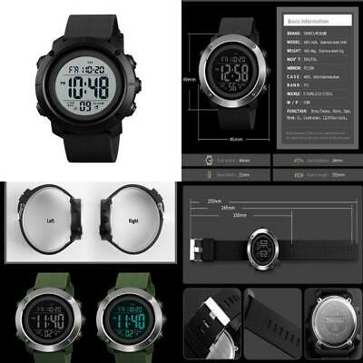 Men'S Sports Watches Digital Led Screen Large Face Backlight Military Waterproof
