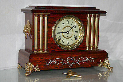 "ANTIQUE SETH THOMAS SHELF MANTLE CLOCK-Totally!!-Restored- Model ""LEEDS"" c/1905"