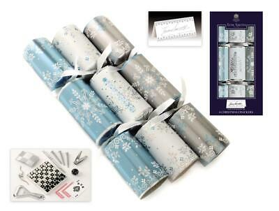 Tom Smith Christmas Crackers- 6 x 12'' Silver / White Crackers