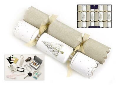 "Tom Smith Christmas Crackers 8 x 12.5"" Gold & Cream"
