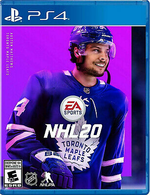 NHL 20 Sony PS4 Hockey Sports Game Auston Matthews Cover Playstation 4 2020