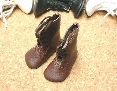 58mm slim Black//Brown Oxfords for Matt and Rufus Doll Shoes