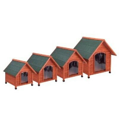 Waterproof Pitched Roof Dog Kennel With Door Flap - 4 Sizes - See Size Chart